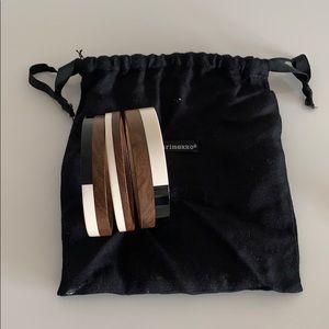 Marimekko Set of three wood bracelets
